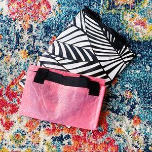 IKEA Slukis Boho Tropical Leaf Pink Storage Bags 2